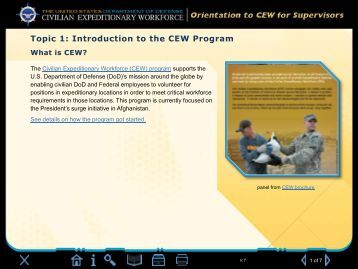 Topic 1 - Defense Civilian Personnel Management Service