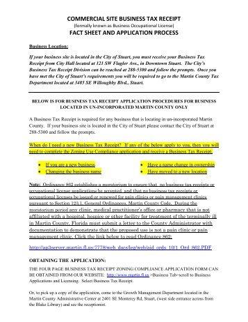 Business Tax Receipt - Martin County, Florida