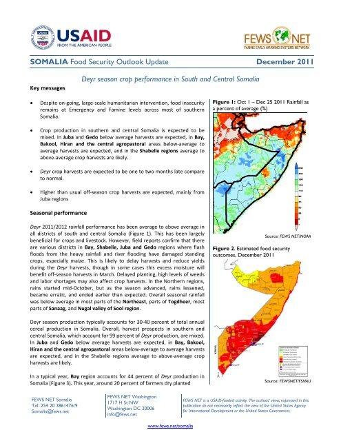SOMALIA Food Security Outlook Update December     - FEWS Net