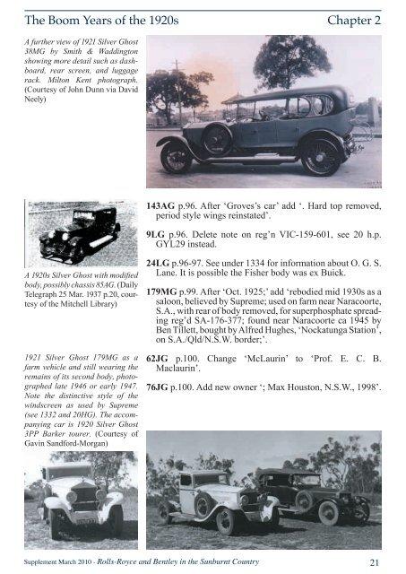 SC Supplement.indd - Sir Henry Royce Foundation