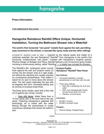 10 free Magazines from HANSGROHE.USA.COM