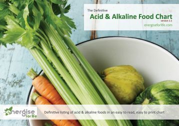 Acid & Alkaline Food Chart - Energise for Life