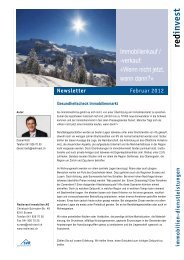 Newsletter Februar 2012 - Redinvest Immobilien AG
