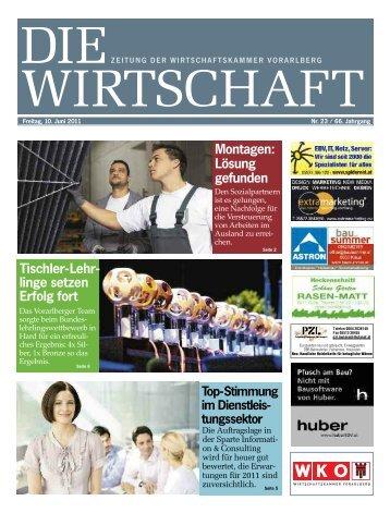 Die Wirtschaft Nr. 23 vom 10. Juni 2011