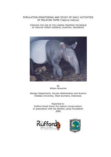 Detailed Final Report.pdf - Rufford Small Grants