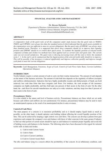 International review of business research papers