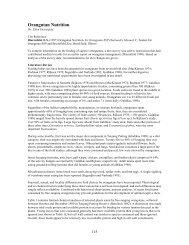 Orangutan Nutrition.pdf - Nutrition Advisory Group