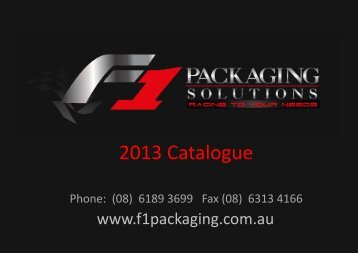F1 Packaging 2013 Catalogue