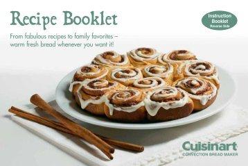 Recipe Booklet - Cuisinart.com