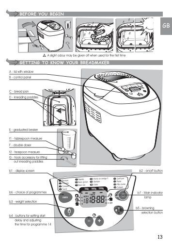 sunbeam bread machine manual 5841