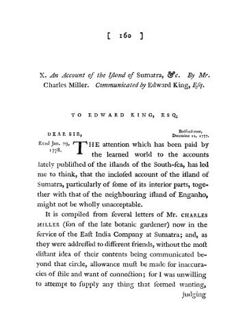 An Account of the Island of Sumatra, &c. By Mr ... - Sabrizain.org
