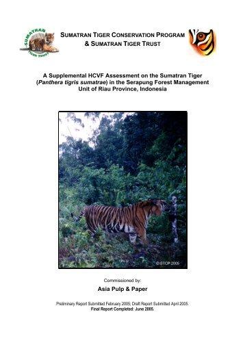 A Supplemental HCVF Assessment on the Sumatran Tiger ...