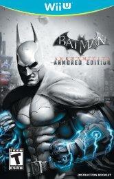 INSTRUCTION BOOKLET - Batman: Arkham City