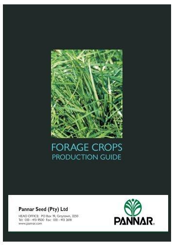 FORAGE CROPS.pdf - Pannar Seed