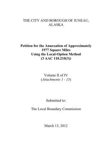 CBJ Petition - City and Borough of Juneau