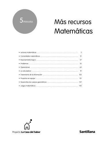 Matemáticas - Recursos para nuestras aulas 2.0
