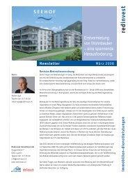 Newsletter März 2008 (1.2 MB) - Redinvest Immobilien AG