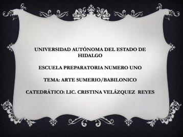 Arte Sumerio Babilónico - Universidad Autónoma del Estado de ...