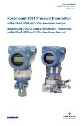 Rosemount 3051 Pressure Transmitter with 4-20 mA - Emerson ...