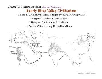 4 early River Valley Civilizations - Solon City Schools
