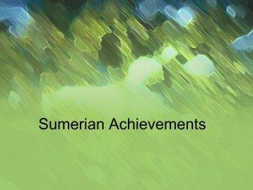 Sumerian Achievements PowerPoint - Hamilton Township Schools