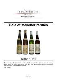 Sale of Meilener rarities