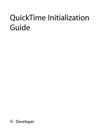 quicktime video effects and transitions guide apple developer rh yumpu com Apple QuickTime for XP Apple QuickTime for XP