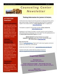 Counseling Center Newsletter - Castle View High School