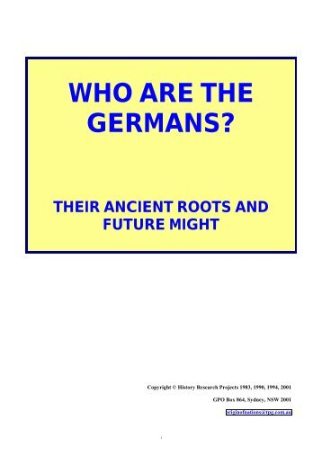 WHO ARE THE GERMANS - Churches of God Cyber Auxiliary