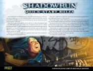 Quick-Start Rules - Shadowrun