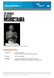 [PDF] Exploring Further ... to the student activities in - Museum Victoria