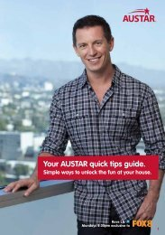Your AUSTAR quick tips guide.