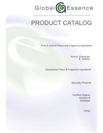 PRODUCT CATALOG - Global Essence