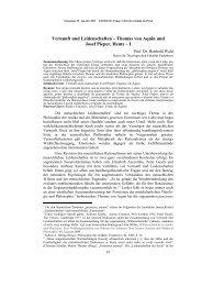 Vernunft und Leidenschaften–Thomas von Aquin und Josef Pieper ...