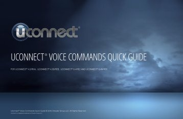 Uconnect® Voice Commands Quick Guide