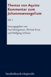 Thomas von Aquins Kommentar zum Johannesevangelium