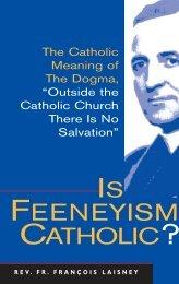 Is Feeneyism Catholic? - Society of St. Pius X