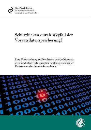 MPI Gutachten Vorratsdatenspeicherung - Bundesministerium der ...