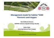 Management model for habitat *6260 Pannonic sand steppes