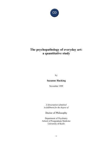 The Psychopathology Of Everyday Art A Quantitative Study World