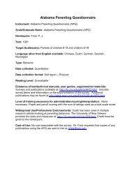 Parenting Questionnaire-Alabama (parents of children 6-18