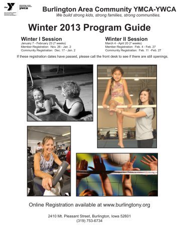 Winter 2013 Program Guide - the Burlington Area Community YMCA