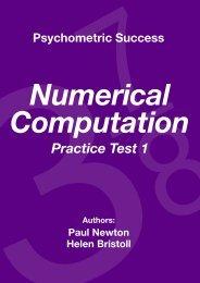 Numerical Computation - Practice Test 1 - Psychometric Success