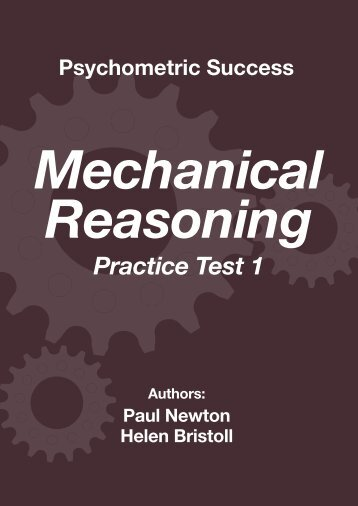 Mechanical Reasoning – Practice Test 1 - Psychometric Success