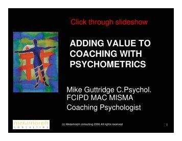 adding value to coaching with psychometrics - Smith Guttridge