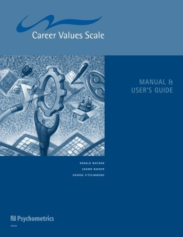 MANUAL & USER'S GUIDE - Psychometrics Canada