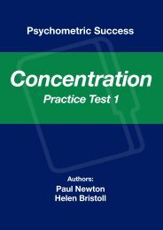 Concentration/Work Rate - Practice Test 1 - Psychometric Success