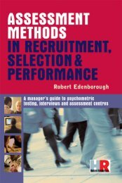 Assessment Methods in Recruitment, Selection & Performance : A ...