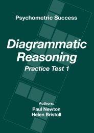 Diagrammatic Reasoning Practice Test 1 - Psychometric Success