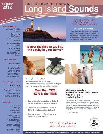 LISEFCU Newsletter August 2012 - Long Island State Employees FCU